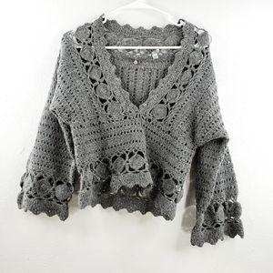 Anthropologie Orenburg Pullover Crochet Blouse